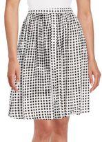 MinkPink Check Print Gathered Skirt