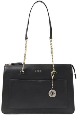 DKNY Embellished Textured-leather Shoulder Bag