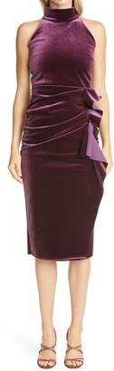 Chiara Boni Gudrum Velvet Halter Cocktail Dress