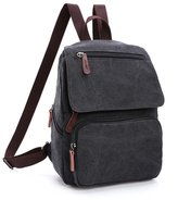 UP TOP Unisex Vintage Canvas Backpack Casual Bookbags Multifunctional Travel Daypack