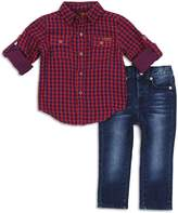 7 For All Mankind Boys' Flannel Shirt & Jeans Set