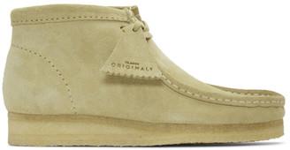 Clarks Grey Suede Wallabee Boots
