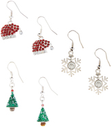 Carole Red & Green Christmas Eve Three-Pair Drop Earrings Set