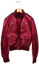 Gucci Girls' Metallic Leather Jacket