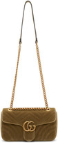 Gucci Tan Velvet Small GG Marmont 2.0 Bag
