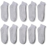 Gildan Men's P10 ankle Casual socks Grey 6-12