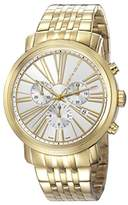Pierre Cardin Couronnes Men's Quartz Watch with Silver Dial Chronograph Display and Gold Stainless Steel Bracelet PC106751S10