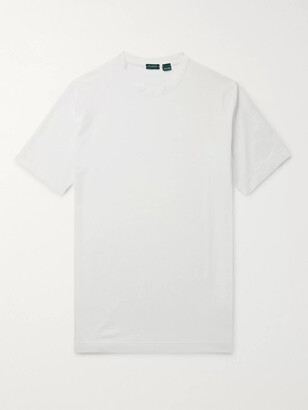 Incotex Ice Cotton-jersey T-shirt - Neutrals