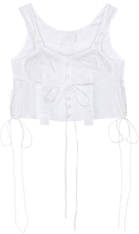 Chloé Cropped cotton top