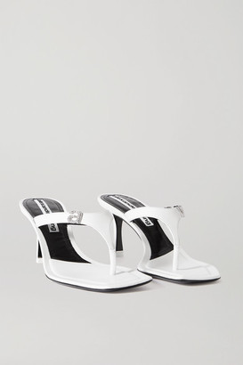 Alexander Wang Ivy Crystal-embellished Leather Sandals - White