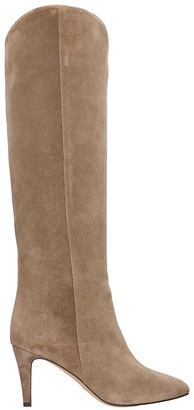 The Seller High Heels Boots In Taupe Suede