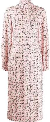 Emilia Wickstead Square Rose print dress