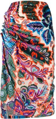Paco Rabanne Asymmetric Pull-On Skirt