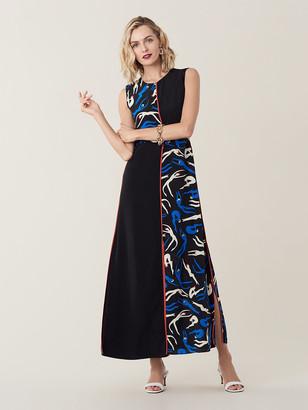 Diane von Furstenberg Verona Silk Crepe de Chine Maxi Dress