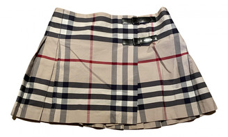 Burberry Beige Cotton Skirts