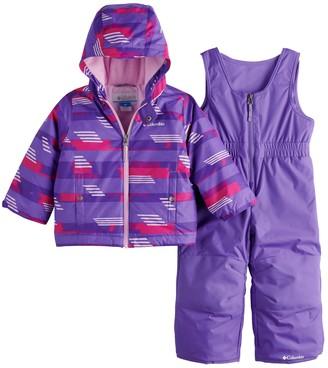 Columbia Toddler Girl OUTGROWN Jacket & Bib Snow Pants Set