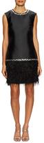 Shoshanna Embellished Fringe Shift Dress