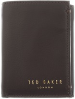 Ted Baker Jonnys Mini Card Leather Wallet Brown