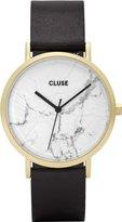 Cluse Women's La Roche CL40003 Black Leather Quartz Dress Watch