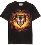 Gucci Appliquéd Printed Cotton-jersey T-shirt - x large