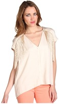 Twelfth St. By Cynthia Vincent by Cynthia Vincent - Fringe Button Up (Cream) - Apparel