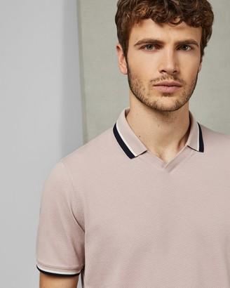 Ted Baker ZEBRAZ Cotton flat knit polo shirt