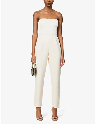 Lavish Alice Strapless tailored crepe jumpsuit
