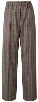 Brunello Cucinelli Prince Of Wales Checked Wool Wide-leg Pants