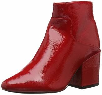 Lost Ink Women's Micha Block Heel Ankle Boot (Wide Fit)