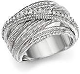 Judith Ripka Multi Band Mercer Wrap Ring with White Sapphire
