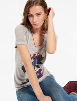 Lucky Brand Steel Gray Floral Tee