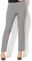 New York & Co. 7th Avenue Pant - Slim-Leg - Modern - Pull-On - Gingham Print