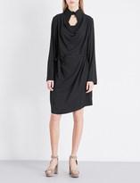 Anglomania Tondo cowl-neck poplin dress