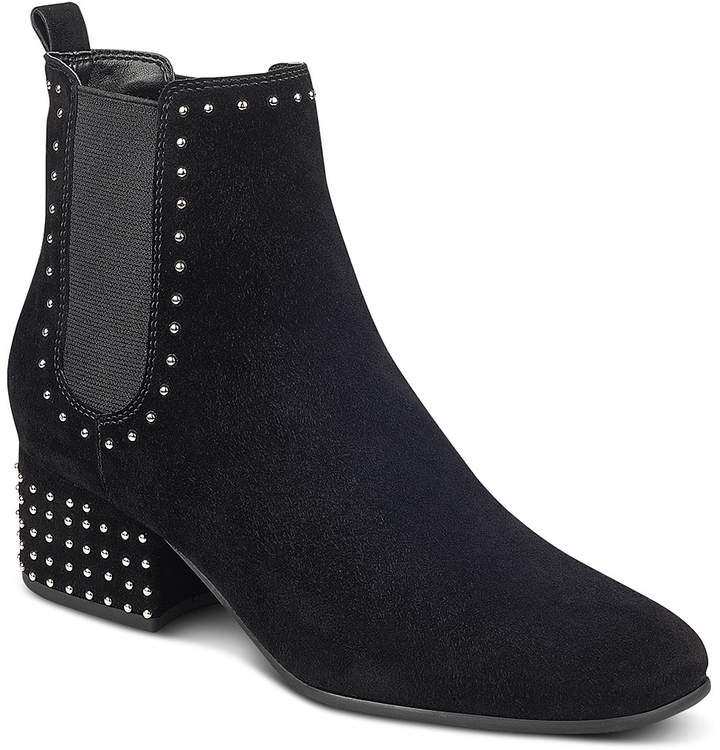 Marc Fisher Women's Tango Studded Suede Block Heel Booties