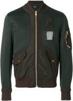 Kolor panelled bomber jacket - men - Cotton/Nylon/Polyester - 2
