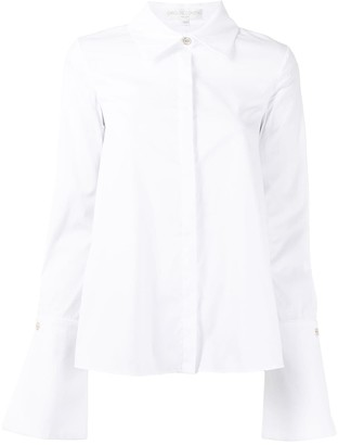 Caroline Constas Oversize-Cuff Poplin Shirt