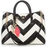 Betsey Johnson Suite Life Chevron Chain-Strap Tote