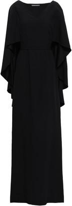 Alberta Ferretti Cape-effect Draped Satin-crepe Gown