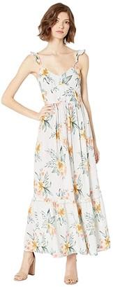 Roxy On A Wim Maxi Dress (Gray Violet Seaside Floral) Women's Dress