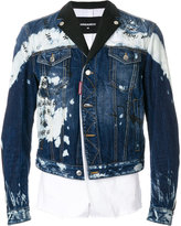 DSQUARED2 paint splatter denim jacket