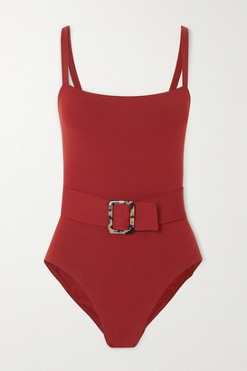 Eres Guilty Belted Swimsuit - Claret
