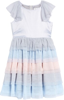 Blush by Us Angels Satin & Chiffon Tiered Dress