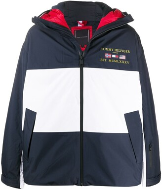 Tommy Hilfiger Colour Blocked Hooded Coat