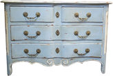 One Kings Lane Vintage Louis XIV-Style Painted Commode