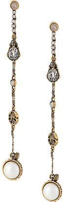 Alexander McQueen Mismatched Chain Drop Earrings