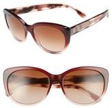 Burberry Women's 56Mm Cat Eye Sunglasses - Bordeaux