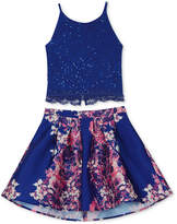 BCX 2-Pc. Lace Camisole and Floral-Print Skirt Set, Big Girls