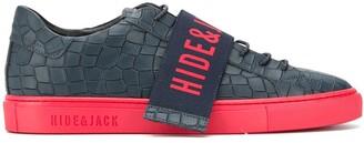 Hide&Jack Logo-Strap Embossed Sneakers