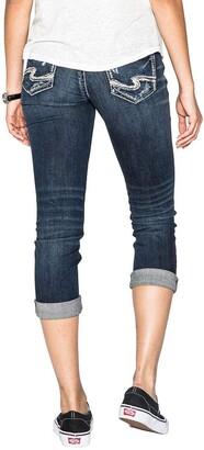 Silver Jeans Co. Womens Suki Curvy Fit Mid Rise Capri Jeans