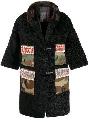 5 PROGRESS camouflage print pocket coat